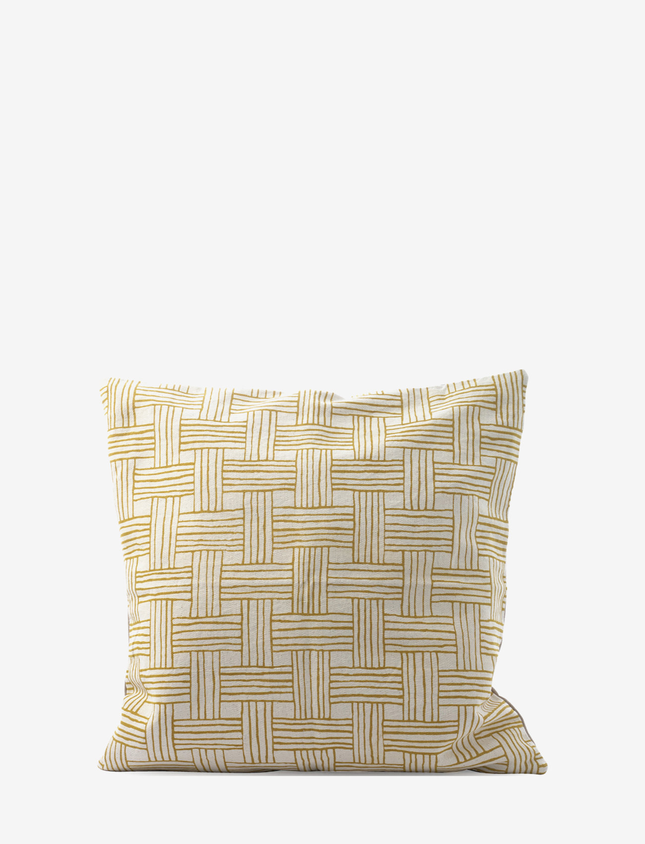 Ceannis - C/c 50x50 Yellow Printed Braided - coussins - yellow - 0