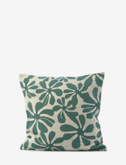 Ceannis - C/c 50x50 Green Printed Flower - coussins - green - 0