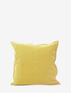 C/c 50x50 Lemon Velvet - housses de coussins - lemon