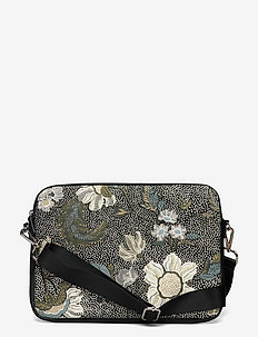 Computer Case Flower Linen - laptopväskor - black