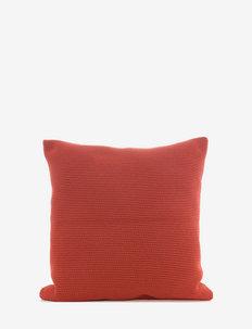 C/c 50x50 Terracotta Crochet - housses de coussins - terracotta