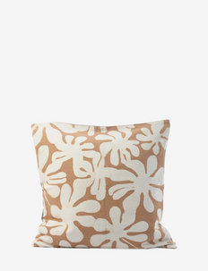 C/c 50x50 Sand Printed Flower - cushions - sand