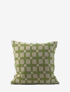C/c 50x50 Green Tea Plaids Braided - pudebetræk - green