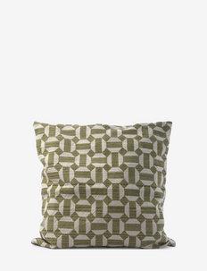 C/c 50x50  Printed Diamond - cushion covers - green tea