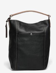 Bucket Bag Grained Leather - bucket bags - black