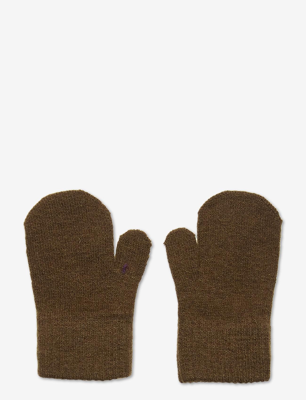 CeLaVi - Basic magic mittens -solid col - uldtøj - military olive - 0
