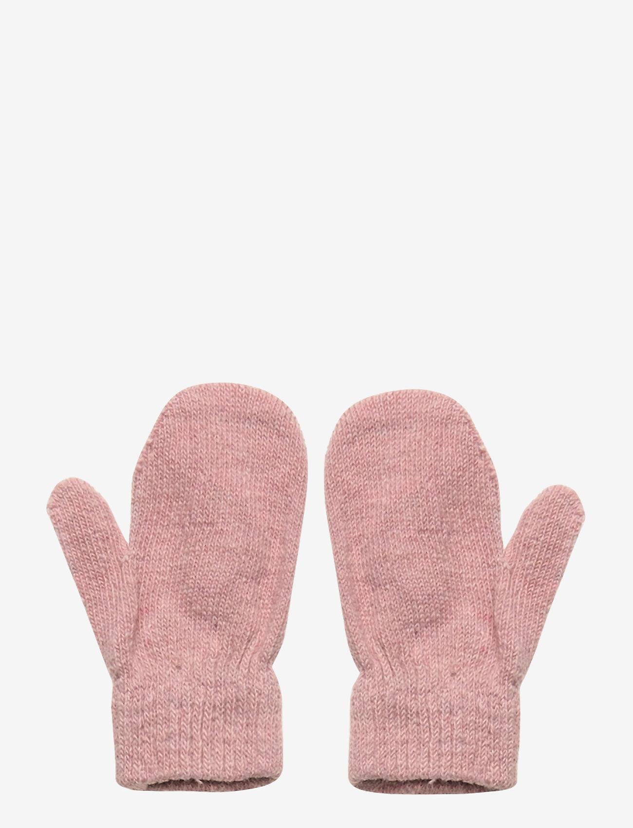 CeLaVi - Basic magic mittens -solid col - uldtøj - misty rose - 1