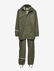 Basci rainwear set, solid - ARMY