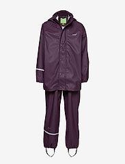 CeLaVi - Basci rainwear set, solid - Ūdensnecaurlaidīgs apģērbs - blackberry wine - 0