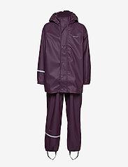 CeLaVi - Basci rainwear set, solid - Ūdensnecaurlaidīgs apģērbs - blackberry wine - 1