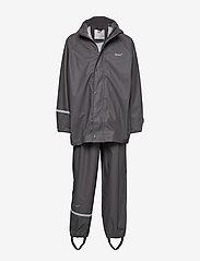 Basci rainwear set, solid - GREY