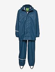 Basci rainwear set, solid - ICEBLUE