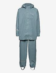 Basci rainwear set, solid - SMOKE BLUE