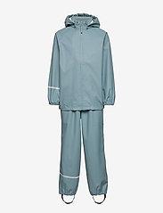 Basic rainwear set -Recycle PU - SMOKE BLUE