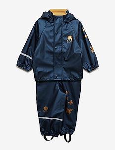 Rainwear set metallic - PU - sets & suits - navy metallic