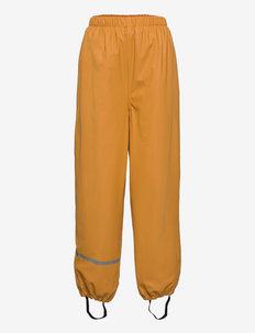 Rainpants -Solid, w.fleece - pantalons - mineral yellow
