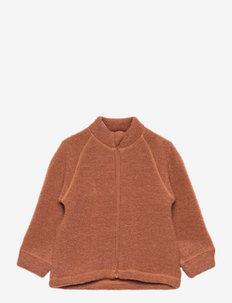 Jacket w/zipper - fleecejakke - tortoise shell