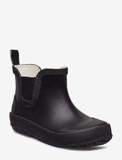 Basic wellies short - solid - uforede gummistøvler - black