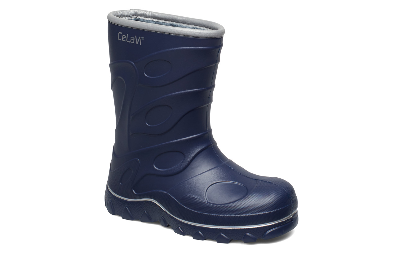 CeLaVi Thermal wellies -embossed - NAVY