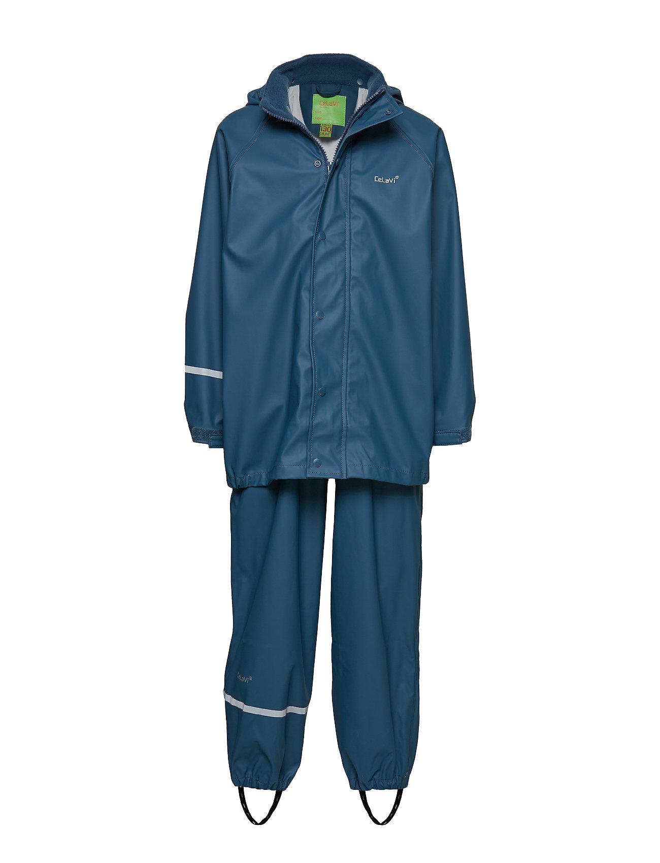 Image of Basci Rainwear Set, Solid Regntøj Blå CeLaVi (2382516993)