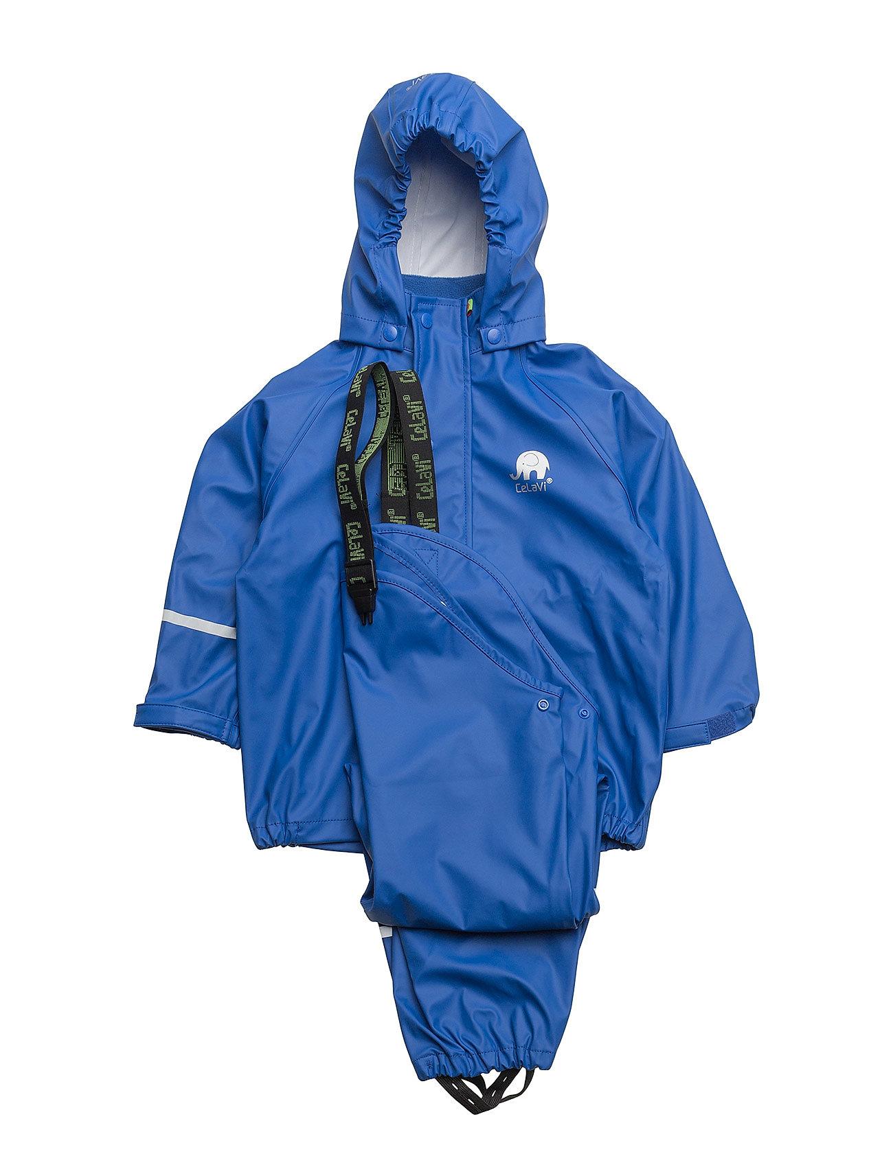 Image of Basci Rainwear Set, Solid Regntøj Blå CeLaVi (3409543535)