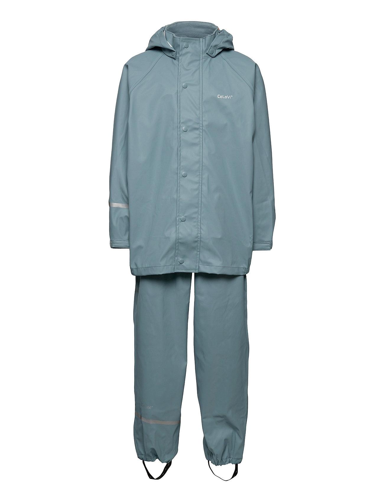 Image of Basci Rainwear Set, Solid Regntøj Blå CeLaVi (3452244669)