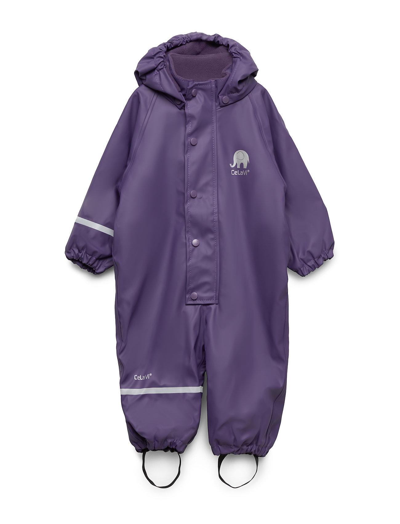CeLaVi Rainwear suit - w.fleece - MULLED GRAP
