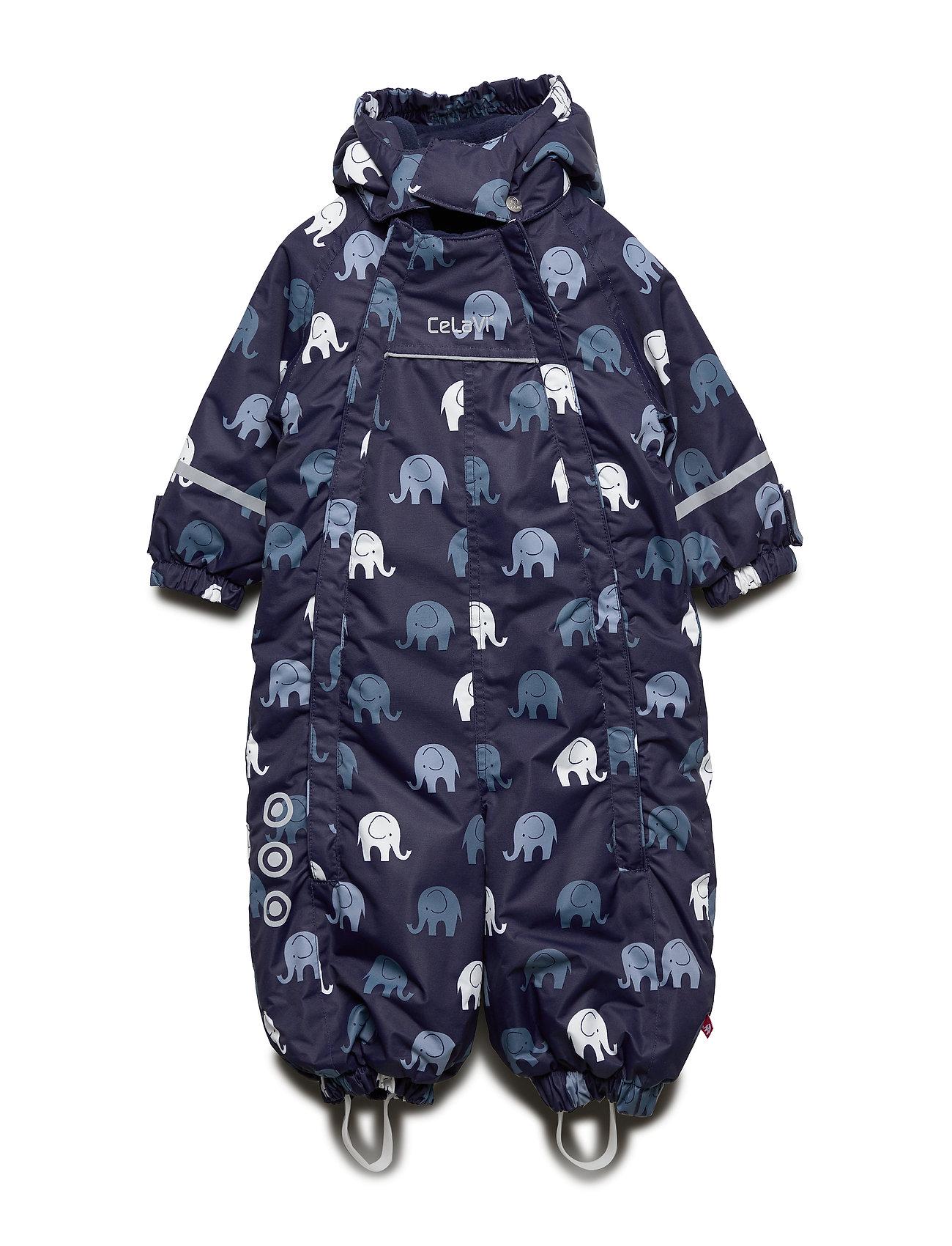 CeLaVi Snowsuit -elephant w 2 zippers - NAVY