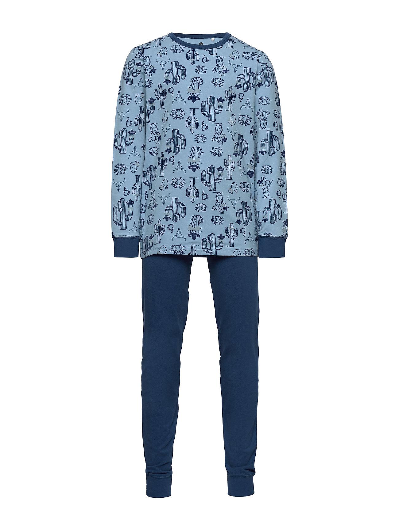 CeLaVi Pajamas w.AOP - DUSK BLUE