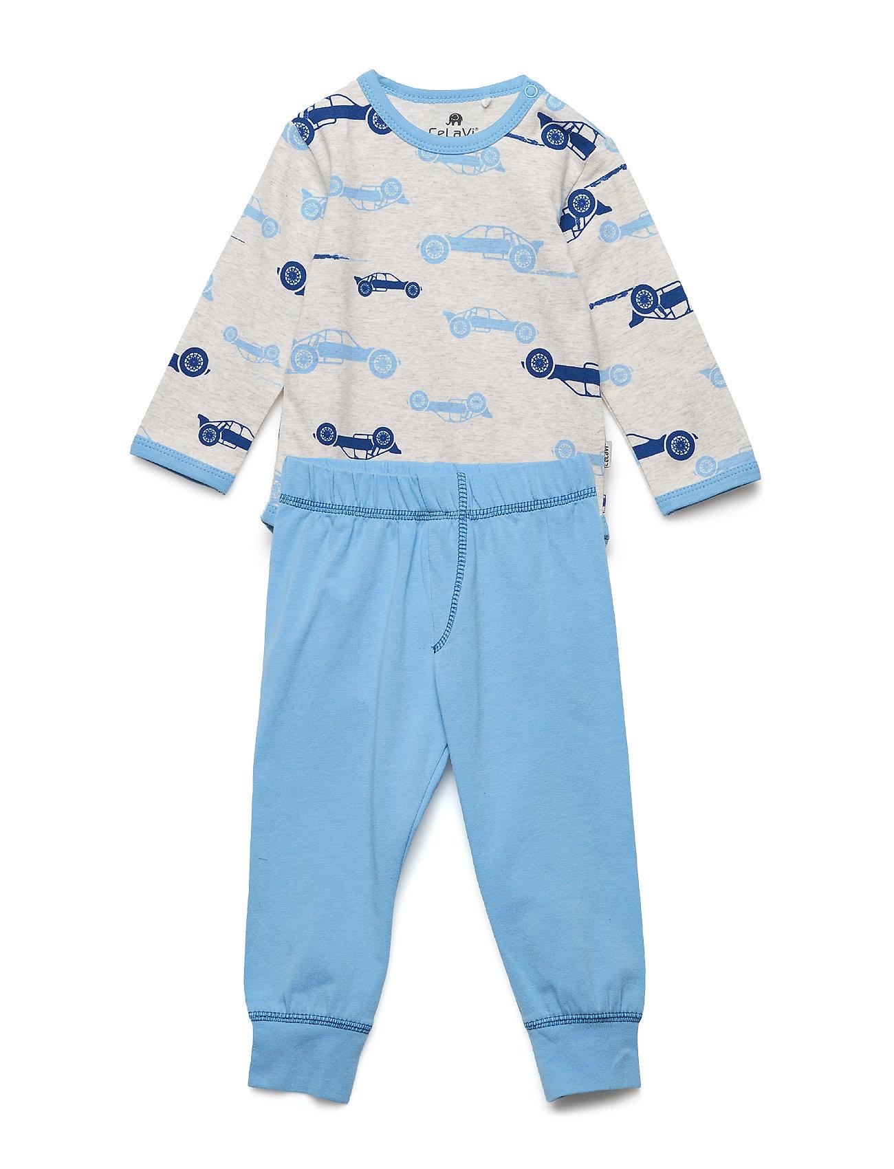 CeLaVi Baby Pyjamas Set - AOP - OFFWHITE MELANGE