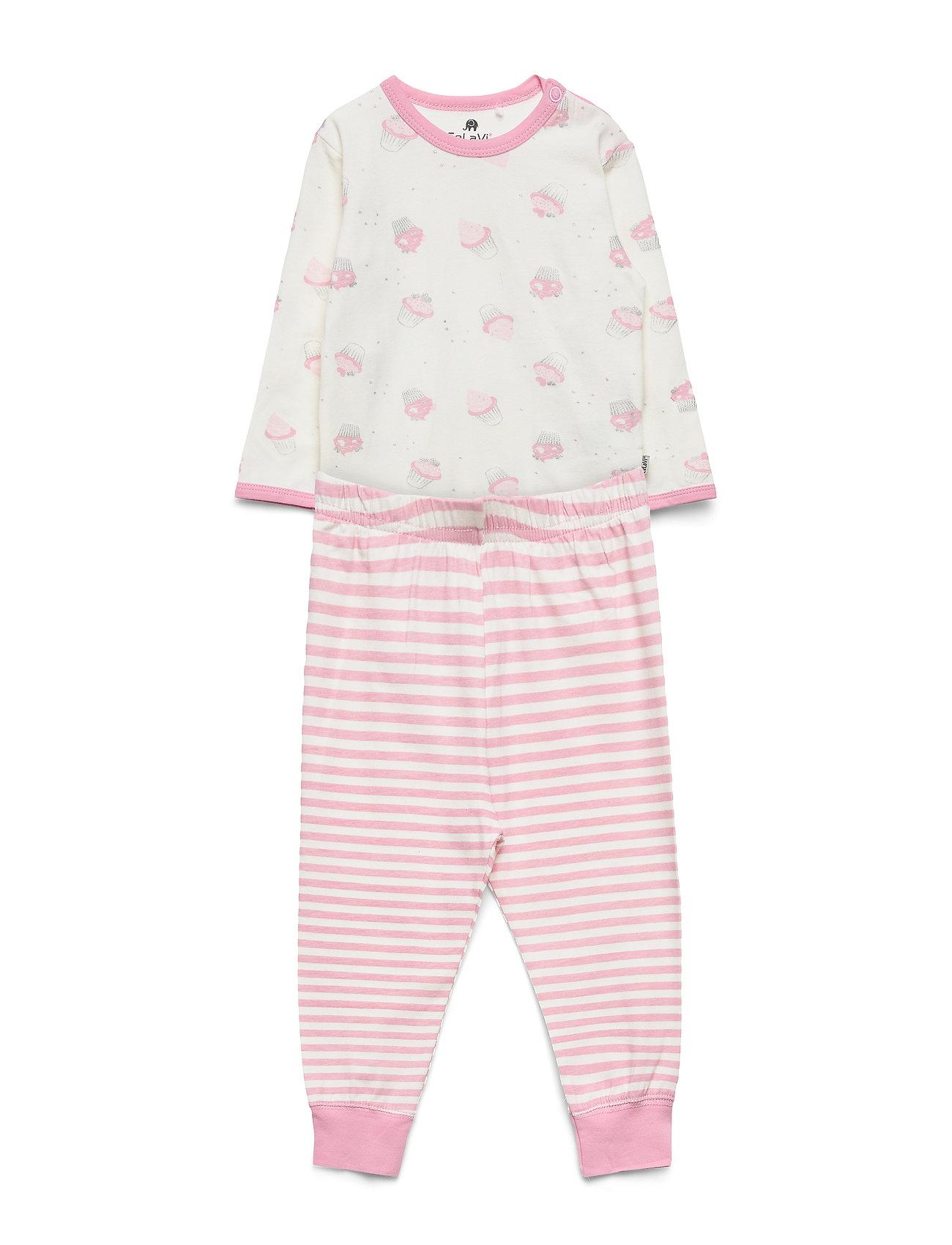 Image of Baby Pyjamas Set -Aop Pyjamassæt Lyserød CeLaVi (3028876757)