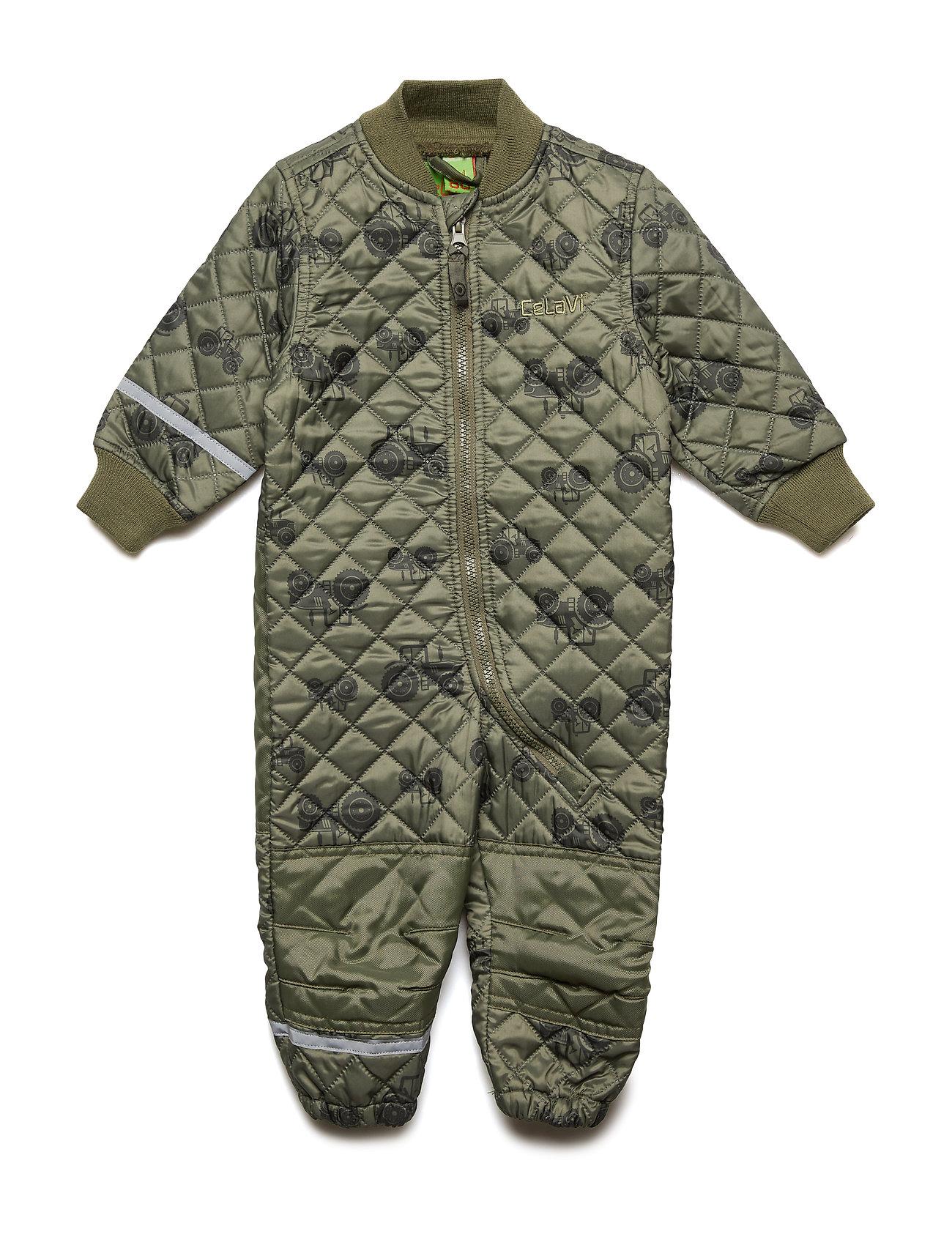 CeLaVi Basic thermal suit - AOP - DUSTY OLIVE