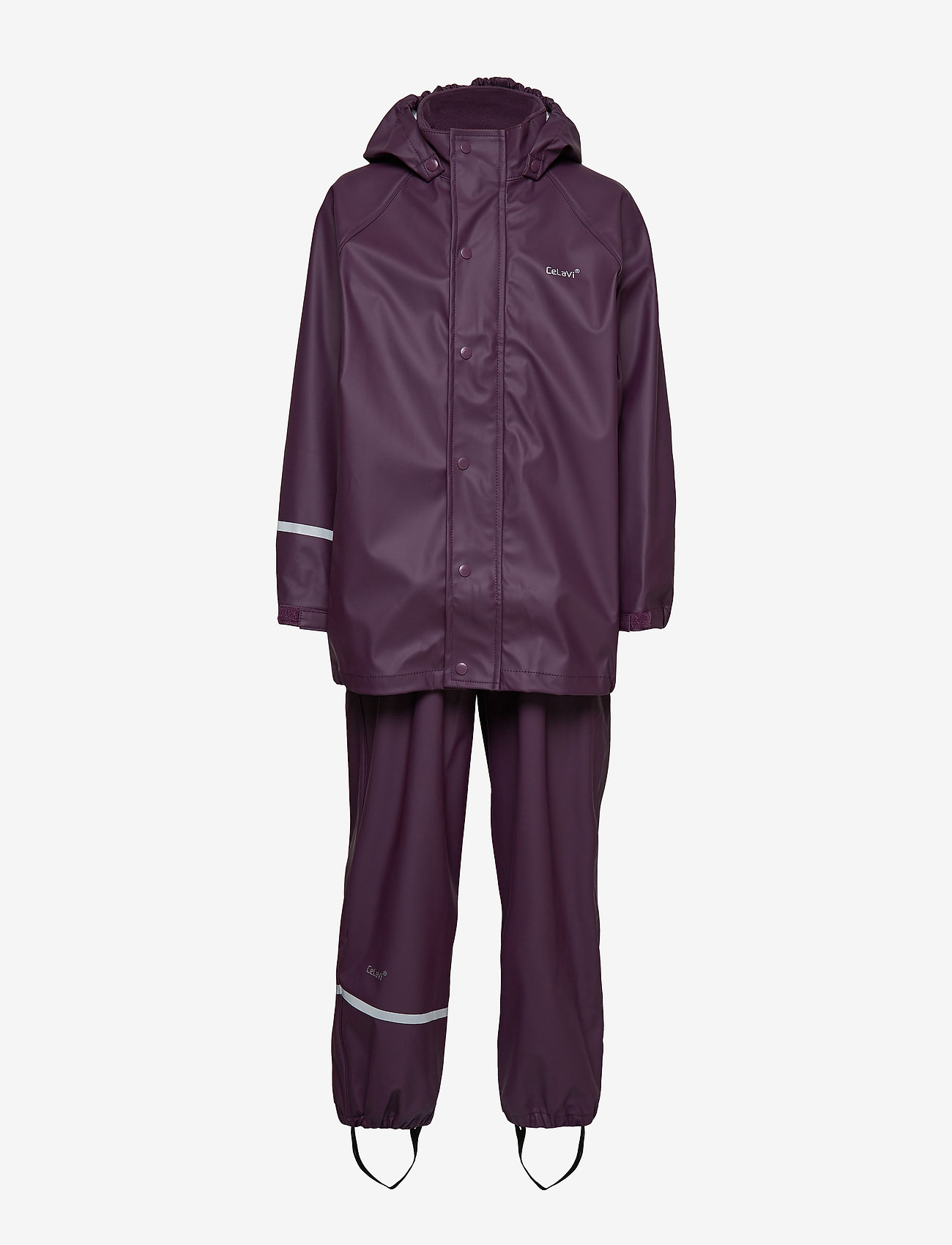 CeLaVi - Basci rainwear set, solid - regnkläder - blackberry wine