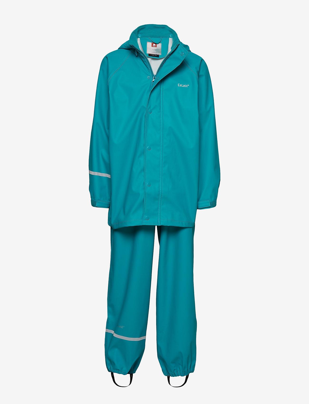 CeLaVi - Basci rainwear set, solid - regenkleidung - turquoise - 0