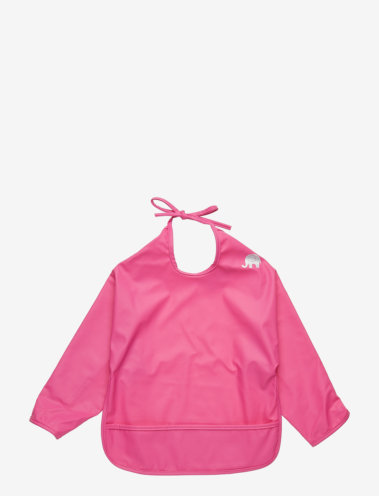 CeLaVi - Basic PU-apron LS - lätzchen - real pink - 0