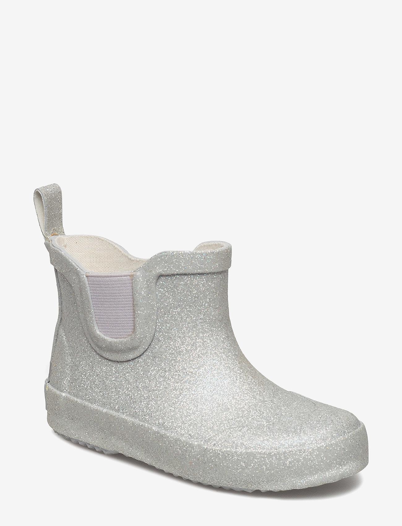 CeLaVi - Short wellies w. glitter - bottes en chaouthouc - silver