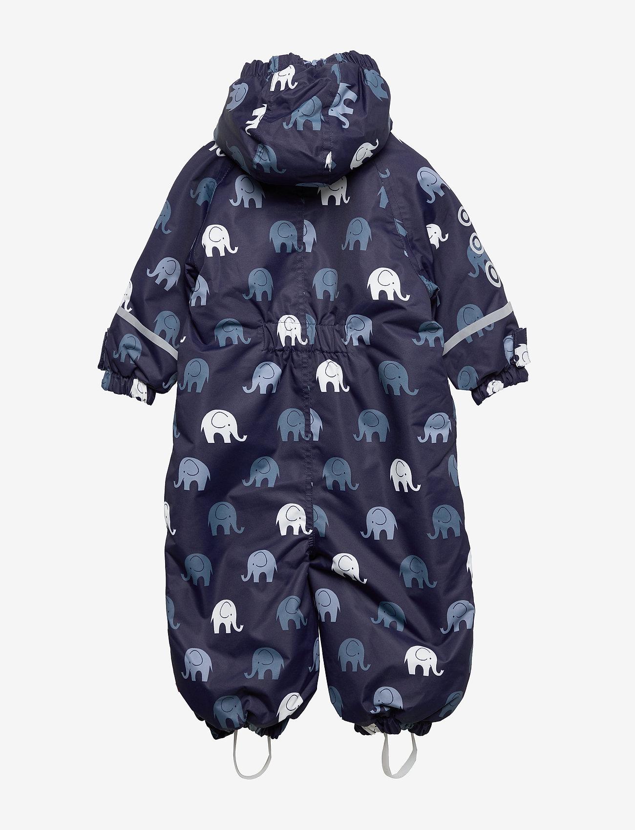 Celavi Snowsuit -elephant W 2 Zippers - Overaller Navy