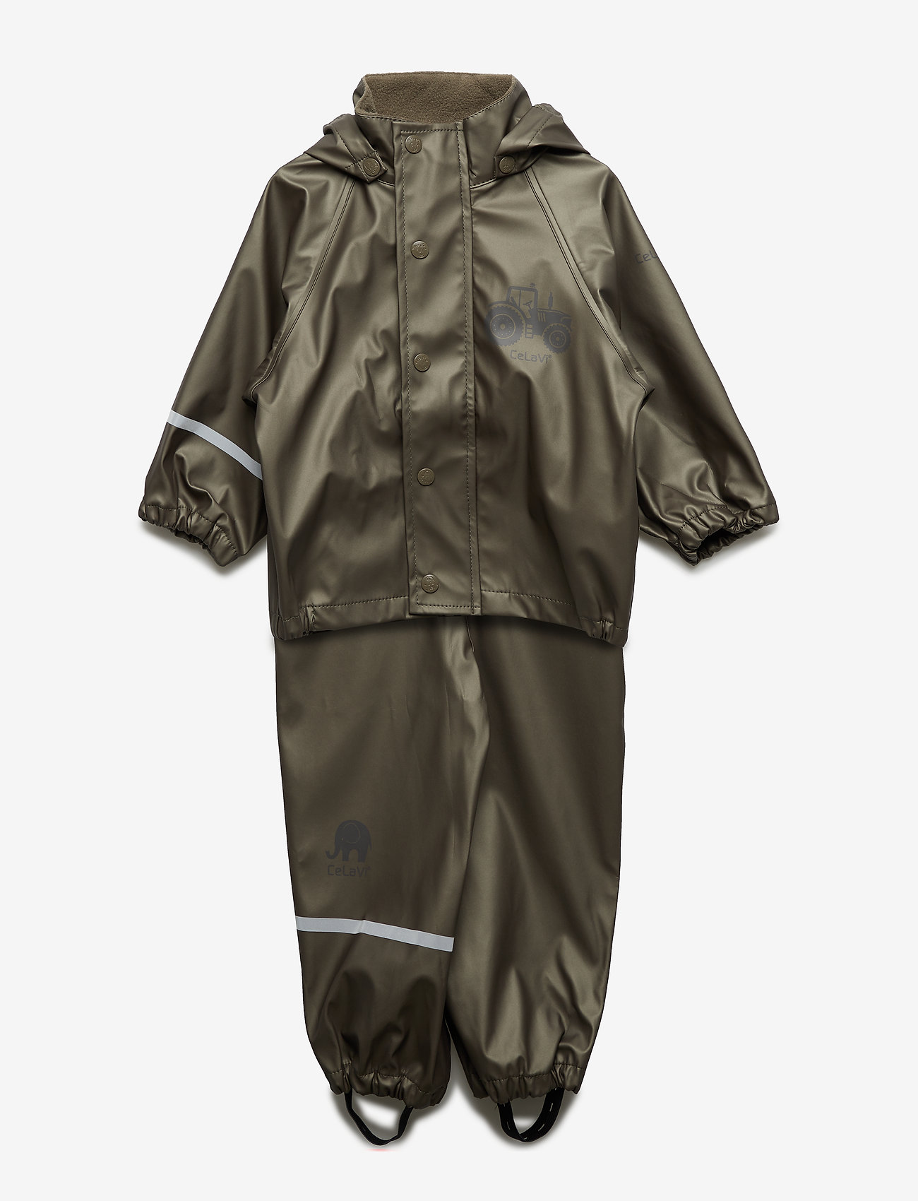 CeLaVi - Rainwear - solid metallic - ensembles - olive metalic - 0