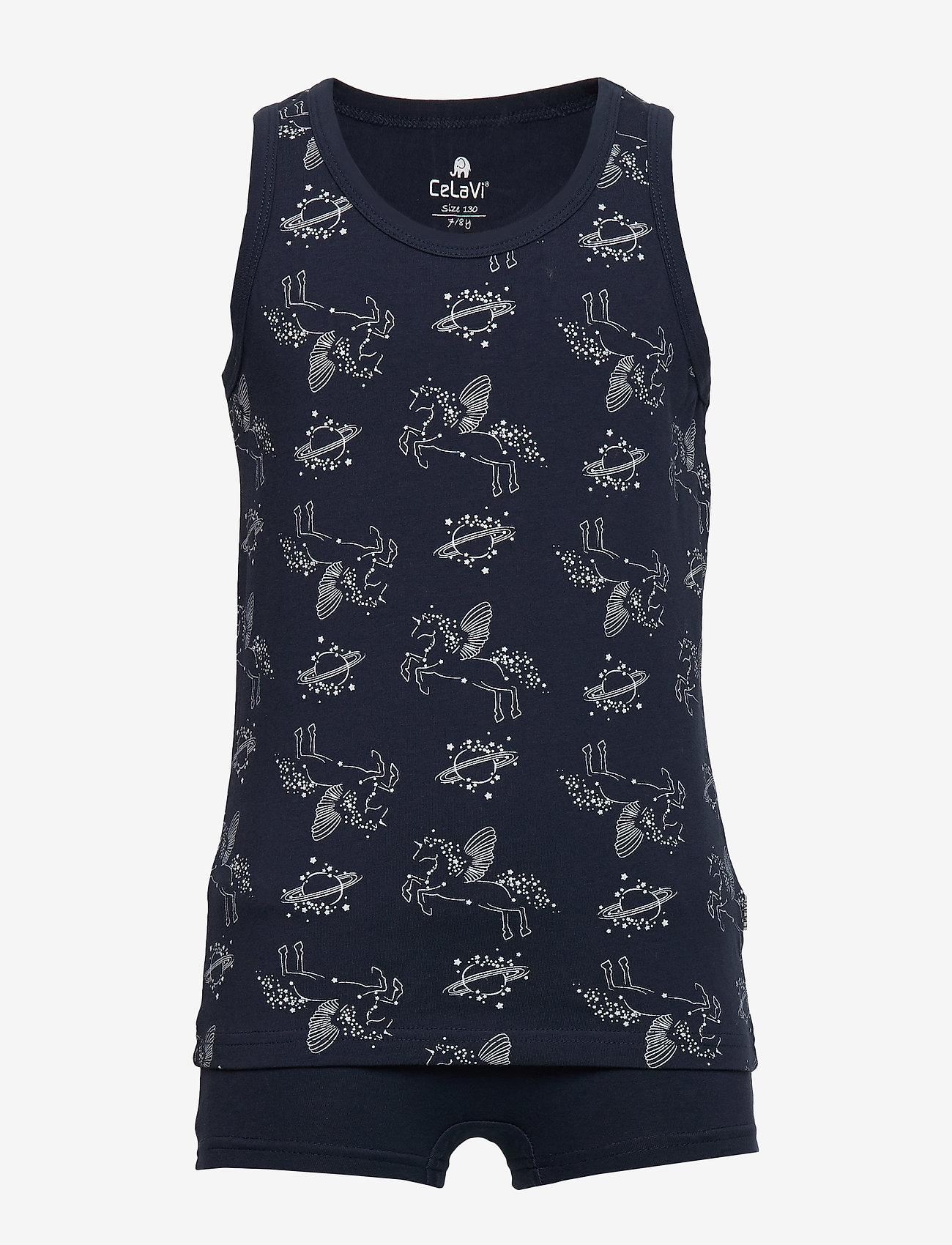 CeLaVi - Underwear set - w. girl print - underwear sets - dress blues - 0