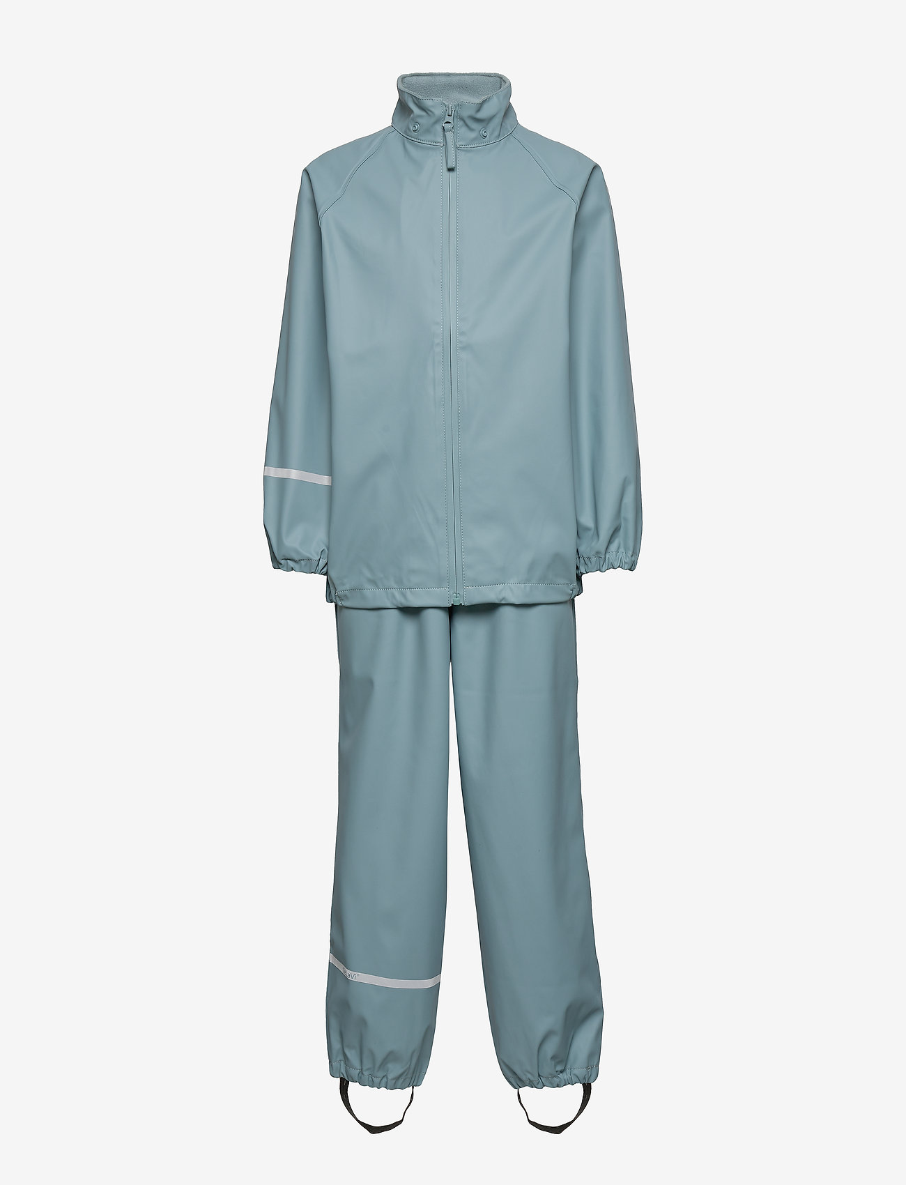 CeLaVi - Basic rainwear set -Recycle PU - ensembles - smoke blue - 1