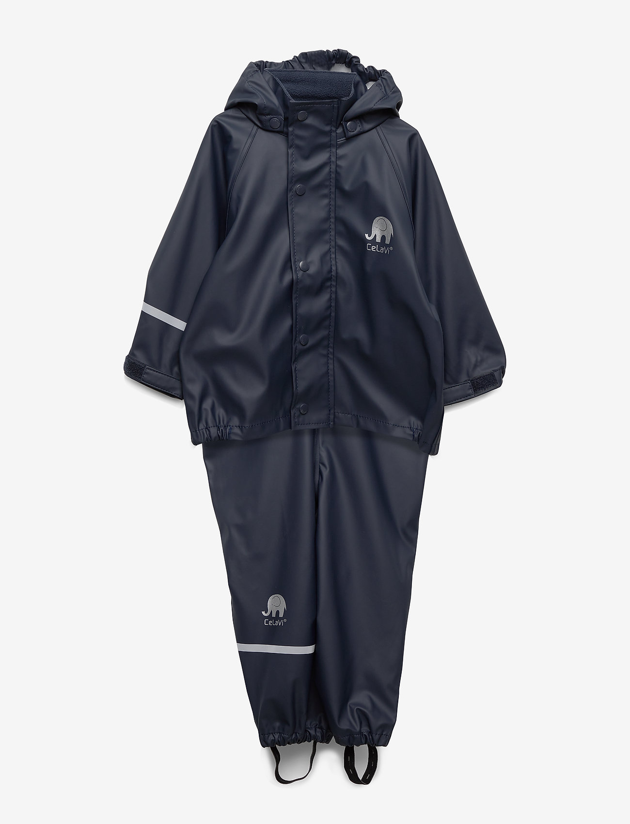 CeLaVi - Basic rainwear set -solid PU - ensembles - navy style 1145 - 0