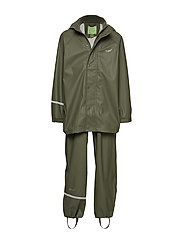 Basci rainwear set, solid - ARMY