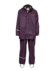 Basci rainwear set, solid - BLACKBERRY WINE
