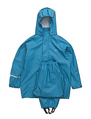 Basci rainwear set, solid - BLUE