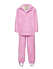 Basci rainwear set, solid - CYCLAMEN
