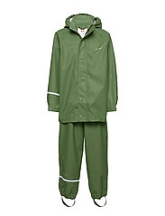 Basci rainwear set, solid - ELM GREEN