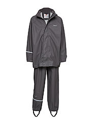 Basci rainwear set, solid - GREY