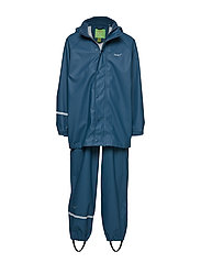 Basci rainwear set, solid - ICEBLUE