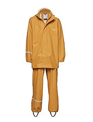 Basci rainwear set, solid - MINERAL YELLOW