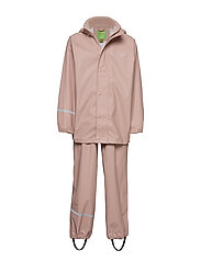 Basci rainwear set, solid - MISTY ROSE
